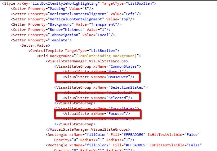 de-highlighted-xaml