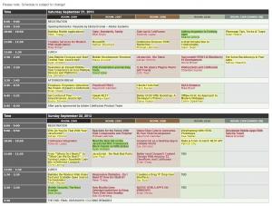 NCDevCon 2013 Schedule
